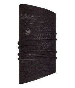 "Studio photo of the BUFF® DryFLX Neckwarmer Design ""Reflective Black"". Source: buff.eu"