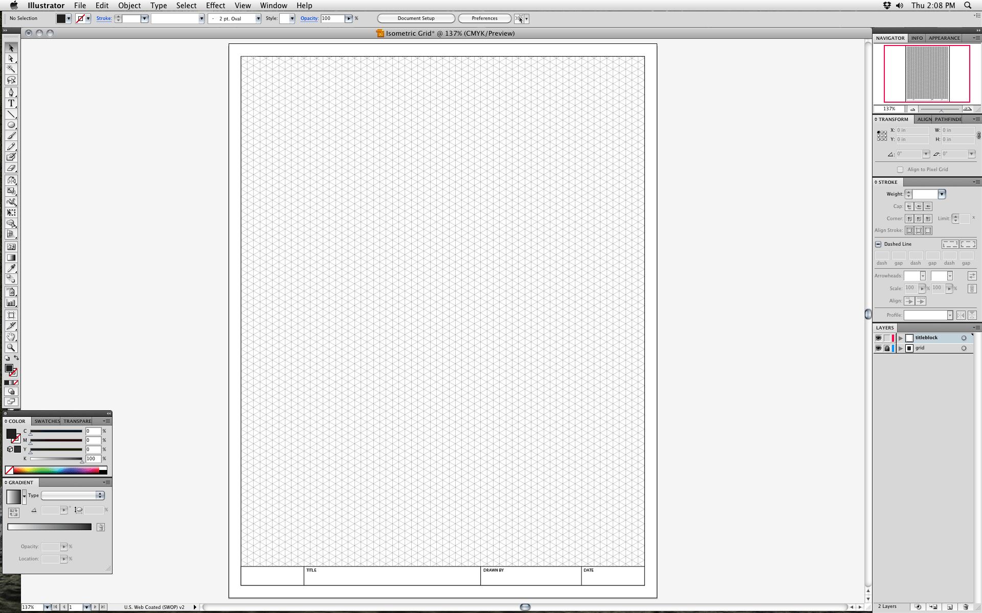 Grille Isometrique Illustrator Ai25