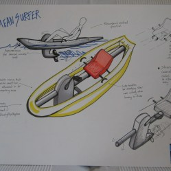 Pedal powered surf concept