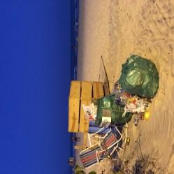 Beachside rubbish