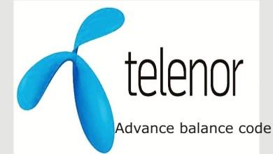 telenor advance balance code