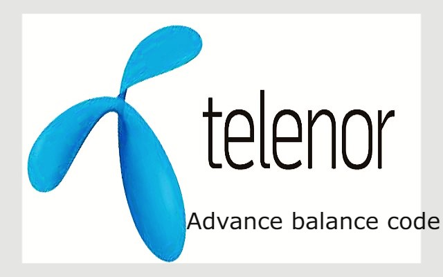 telenor advance balance code