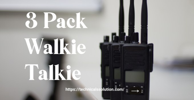 3 Pack Walkie Talkie