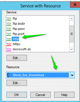 Block Exe and other file format download in Checkpoint Firewall