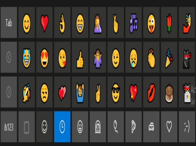 How to Activate Hidden Emoji Keyboard in Windows 10