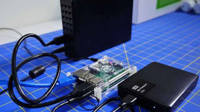 Turn USB Hard drive into network storage disk with raspberry pi