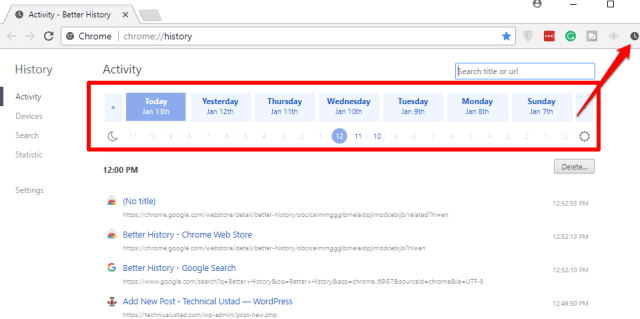 Make your Chrome history easier to search with Better History