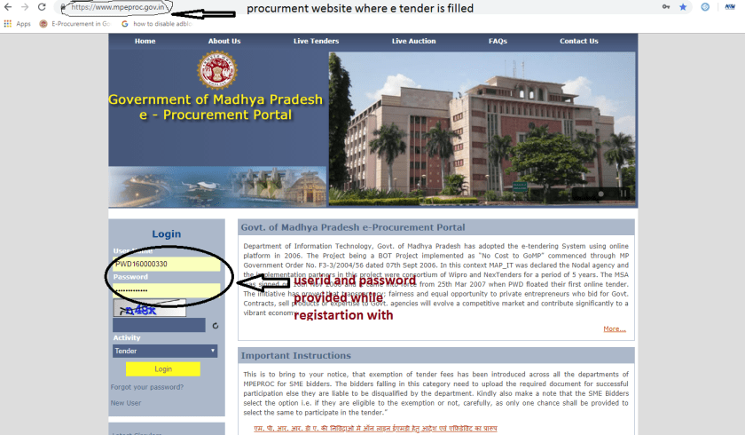 EPROCURMENTS REGISTRATION