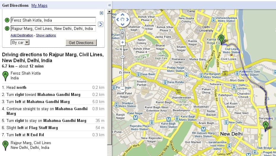 7 Tricks in Google maps directions on