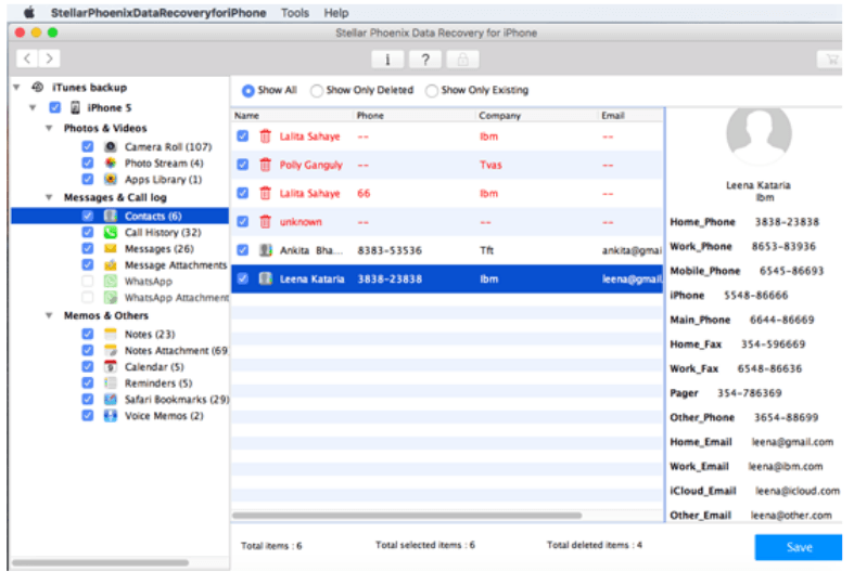 listed iTunes backup file