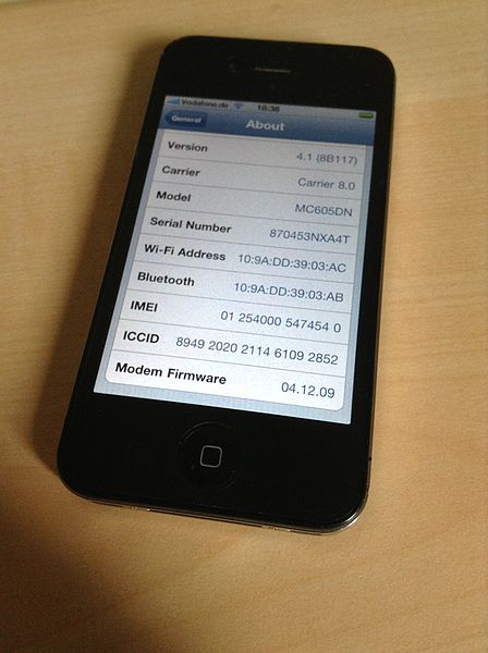 Find IMEI number in iPhone