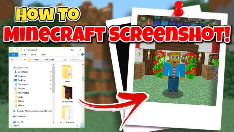 Where are Minecraft screenshots saved?