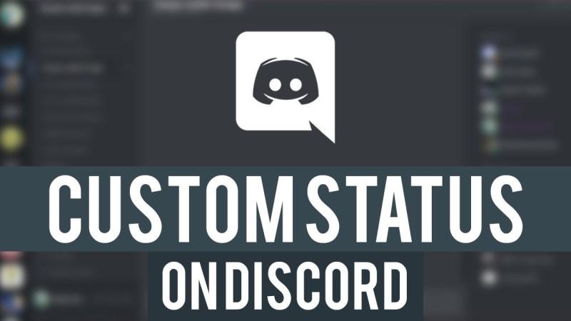 How to set custom status in discord