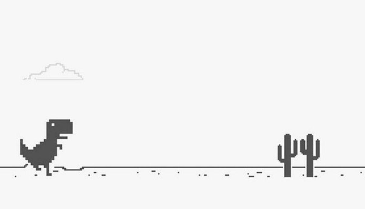 How to play Google Chrome No Internet Dinosaur Game