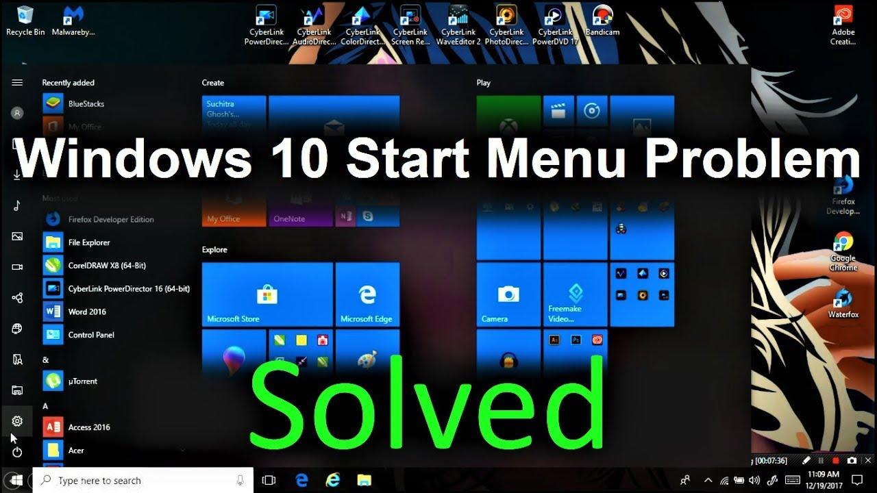 How to fix – Windows 10 Start Menu Not Working