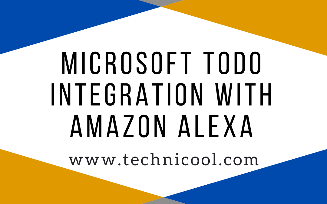 Integrate Amazon Alexa with Microsoft To-Do