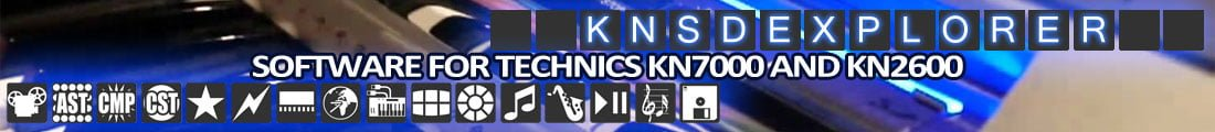 Technics Keyboards Software KNSDExplorer
