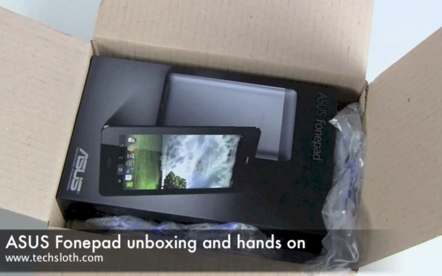 ASUS Fonepad Unboxing
