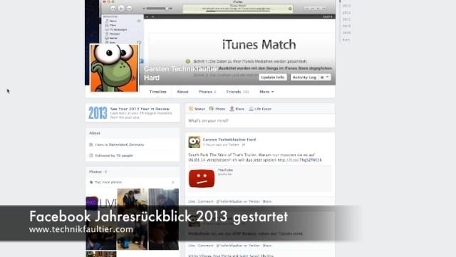 Facebook Jahresrückblick 2013 gestartet