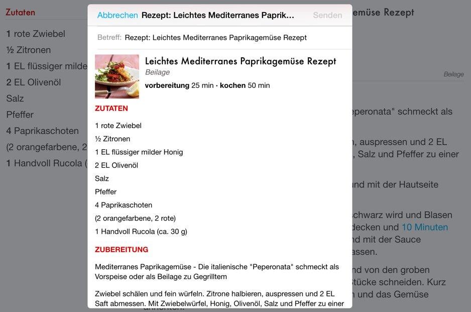 Rezepte Verwalten App
