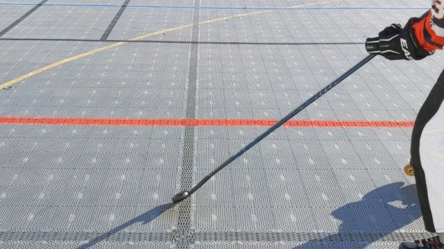 Contrôle rondelle sur la tranche - Soulevé de la rondelle - Coup droit - Technique-Hockey