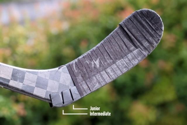 Les encoches du Hockey Wraparound à couper suivant la taille de la palette