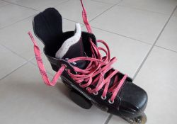 Patin de roller hockey - Lacets cirés