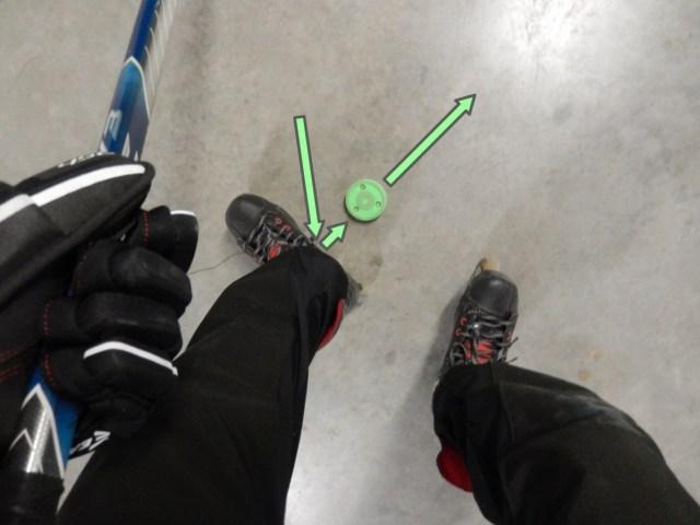 Recevoir une passe dans les patins - Statique - Technique Hockey