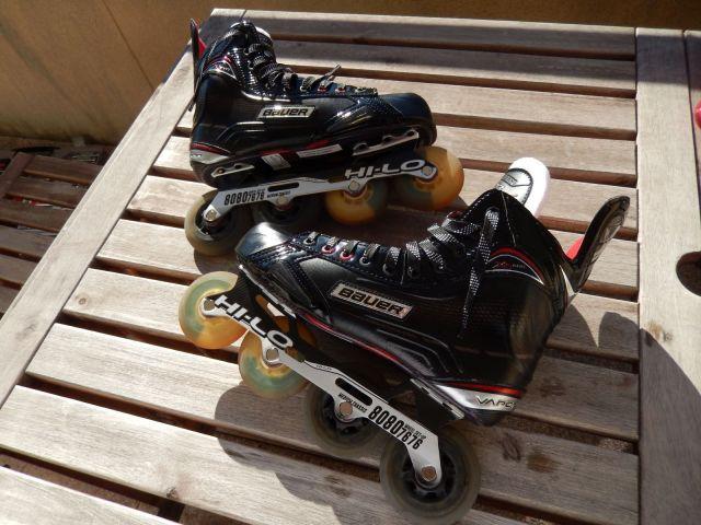 Roller hockey - Patins avec roues interchangées