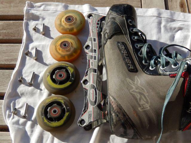 Roller hockey - Roues démontées