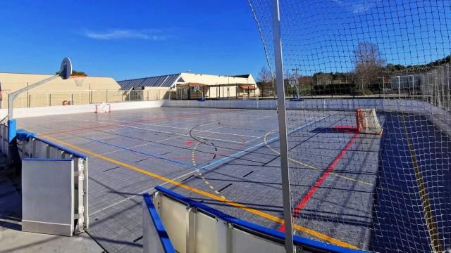 Terrain de roller hockey vide - Technique-Hockey