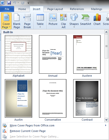 How To Create A Title Page In Word : create, title, Design, Cover, Document