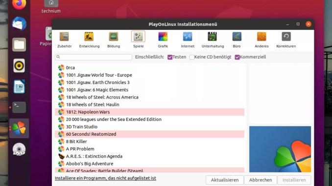Debian PlayOnLinux installieren - install