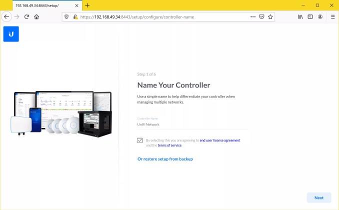 Unifi Controller LXC Container WebUI