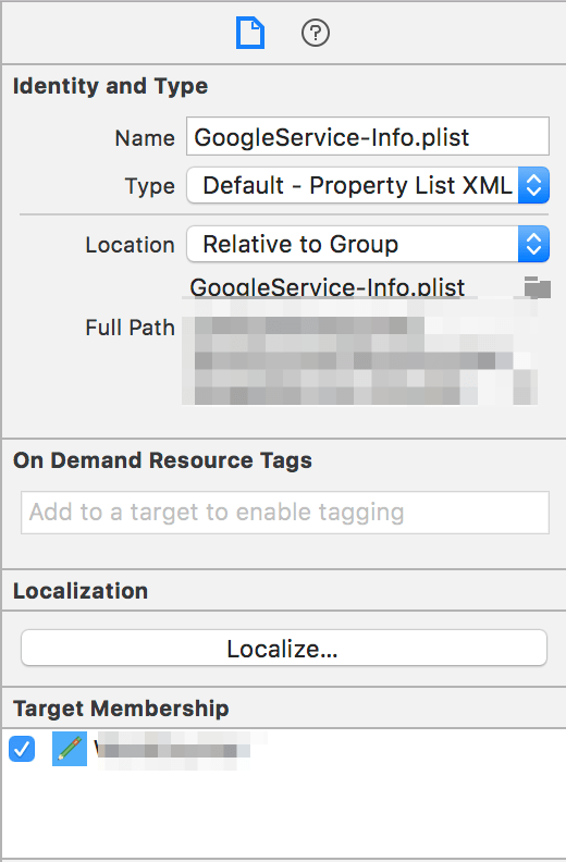 FireBaseのGoogleServices-Info.plistがちゃんと読み込まれないエラー