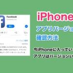 【iOS11】iPhoneに入っているアプリの実際のアプリバージョンを確認する方法