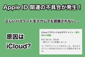 iPhoneのApple ID設定更新画面で正しいパスワード入力してもエラーになる不具合発生! 原因はiClound?
