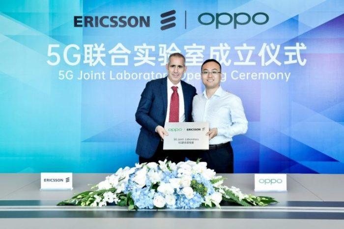 (Po lewej: Luca Orsini, Head of Networks i Vice President, MNEA, Ericsson. Po prawej stronie: Andy WU, Vice President i President of Software Engineering w OPPO)