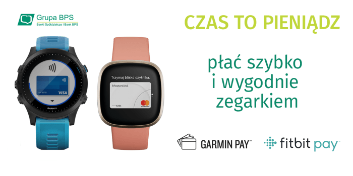 Garmin Pay i Fitbit Pay