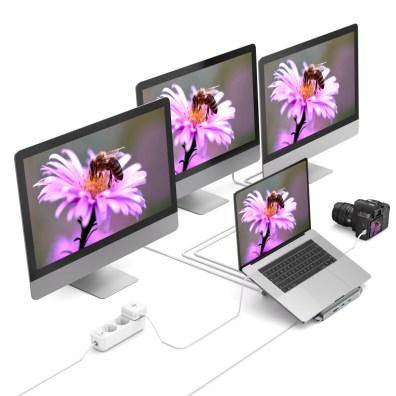 Dzięki podstawce można wyświetlać obraz z wielu ekranów jednocześnie