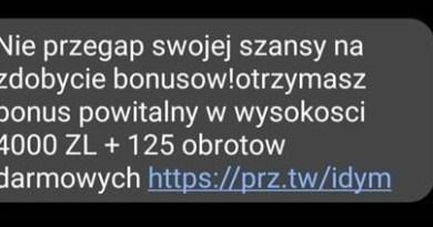 SMS z kasyna