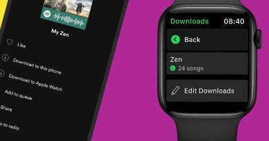 Spotify na Apple Watch