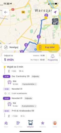 mPay planer: wyznaczanie trasy
