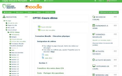 Moodle : nouveaux thèmes et mise à jour