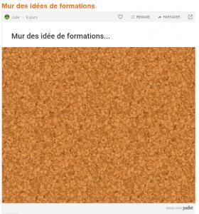 PadletMurIdéesFormation