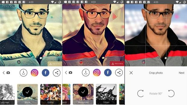 تاثيرات مختلفة على الصور في تطبيق Prisma
