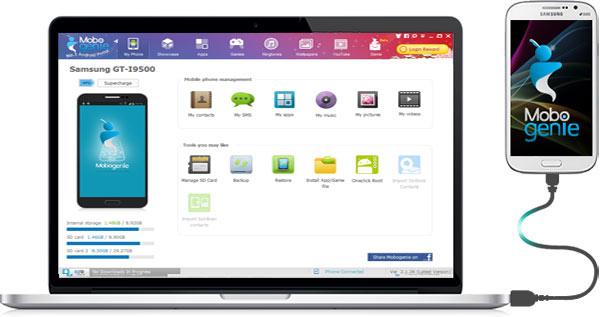 توصيل هاتفك مع الكمبيوتر والتعامل مع تطبيق موبو جيني ماركت بكل سهولة