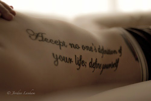 Image of: Yourself Accept No One Technobbcom 55 Unique Tattoo Quote Ideas For Women And Girls