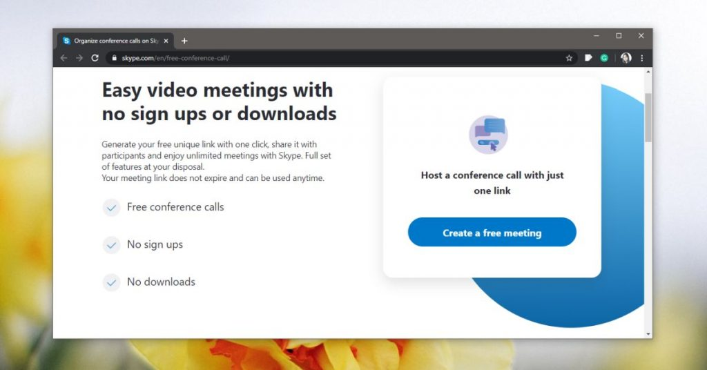 Hold a Skype video conference that anybody can join