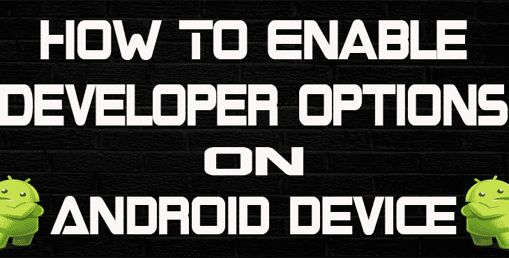 enable developer options on android device